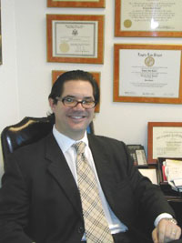 Attorney Greg Brenner in the office